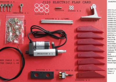J120 ELECTRIC FLAP CARD.